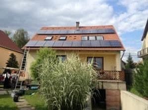 napelem maglód családi ház